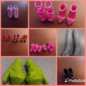 14 pairs of Barbie shoes.